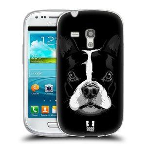 Silikonové pouzdro na mobil Samsung Galaxy S III Mini HEAD CASE ILUSTROVANÝ BULDOČEK