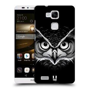 Plastové pouzdro na mobil Huawei Ascend Mate 7 HEAD CASE ILUSTROVANÁ SOVA