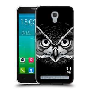 Silikonové pouzdro na mobil Alcatel One Touch Idol 2 Mini S 6036Y HEAD CASE ILUSTROVANÁ SOVA