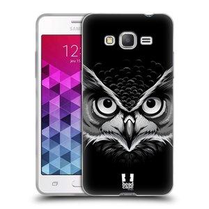 Silikonové pouzdro na mobil Samsung Galaxy Grand Prime HEAD CASE ILUSTROVANÁ SOVA