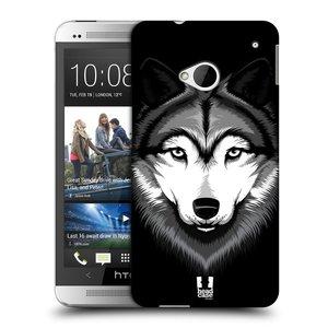 Plastové pouzdro na mobil HTC ONE M7 HEAD CASE ILUSTROVANÝ VLK