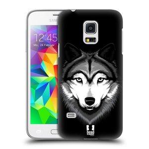 Plastové pouzdro na mobil Samsung Galaxy S5 Mini HEAD CASE ILUSTROVANÝ VLK