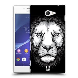Plastové pouzdro na mobil Sony Xperia M2 D2303 HEAD CASE ILUSTROVANÝ LEV