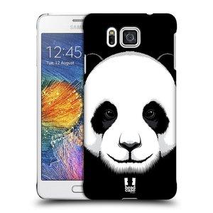 Plastové pouzdro na mobil Samsung Galaxy Alpha HEAD CASE ILUSTROVANÁ PANDA