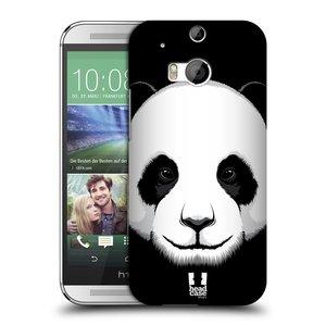Plastové pouzdro na mobil HTC ONE M8 HEAD CASE ILUSTROVANÁ PANDA