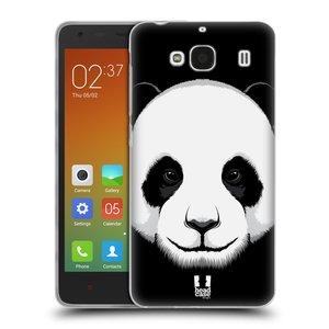 Silikonové pouzdro na mobil Xiaomi Redmi 2 HEAD CASE ILUSTROVANÁ PANDA