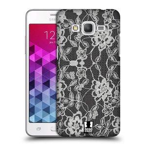 Plastové pouzdro na mobil Samsung Galaxy Grand Prime HEAD CASE FLOWERY KRAJKA