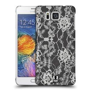 Plastové pouzdro na mobil Samsung Galaxy Alpha HEAD CASE FLOWERY KRAJKA