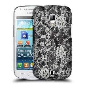 Plastové pouzdro na mobil Samsung Galaxy Trend HEAD CASE FLOWERY KRAJKA