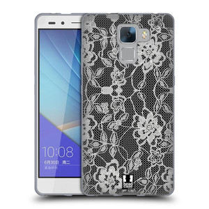 Silikonové pouzdro na mobil Honor 7 HEAD CASE FLOWERY KRAJKA