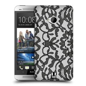 Plastové pouzdro na mobil HTC ONE M7 HEAD CASE LEAFY KRAJKA