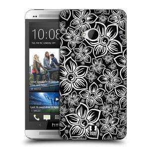 Plastové pouzdro na mobil HTC ONE M7 HEAD CASE FLORAL DAISY