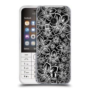 Silikonové pouzdro na mobil Nokia 220 HEAD CASE FLORAL DAISY