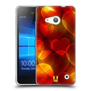 Silikonové pouzdro na mobil Microsoft Lumia 550 HEAD CASE SRDÍČKA BOKEH