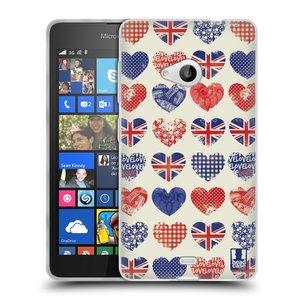 Silikonové pouzdro na mobil Microsoft Lumia 535 HEAD CASE BRITAN HEARTS