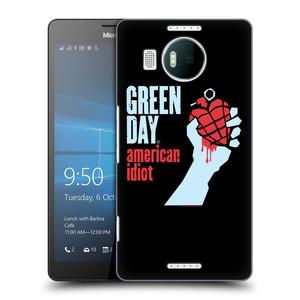 Plastové pouzdro na mobil Microsoft Lumia 950 XL HEAD CASE Green Day - American Idiot