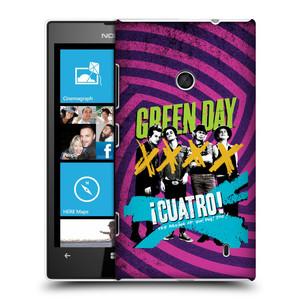 Plastové pouzdro na mobil Nokia Lumia 520 HEAD CASE Green Day - Cuatro