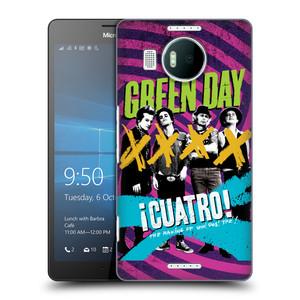 Plastové pouzdro na mobil Microsoft Lumia 950 XL HEAD CASE Green Day - Cuatro
