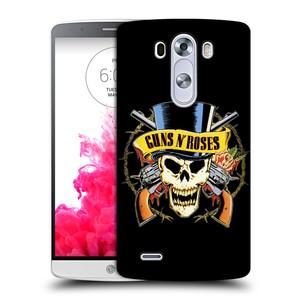 Plastové pouzdro na mobil LG G3 HEAD CASE Guns N' Roses - Lebka