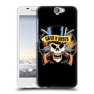 Plastové pouzdro na mobil HTC One A9 HEAD CASE Guns N' Roses - Lebka