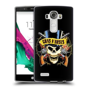 Silikonové pouzdro na mobil LG G4 HEAD CASE Guns N' Roses - Lebka