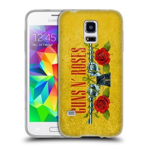 Silikonové pouzdro na mobil Samsung Galaxy S5 Mini HEAD CASE Guns N' Roses - Pistole