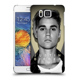 Plastové pouzdro na mobil Samsung Galaxy Alpha HEAD CASE Justin Bieber Official - Head Shot