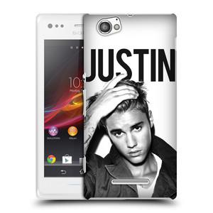 Plastové pouzdro na mobil Sony Xperia M C1905 HEAD CASE Justin Bieber Official - Póza