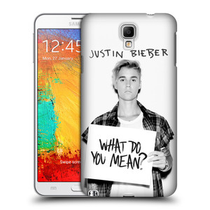 Plastové pouzdro na mobil Samsung Galaxy Note 3 Neo HEAD CASE Justin Bieber Official - What do you mean ?
