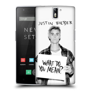 Plastové pouzdro na mobil OnePlus One HEAD CASE Justin Bieber Official - What do you mean ?