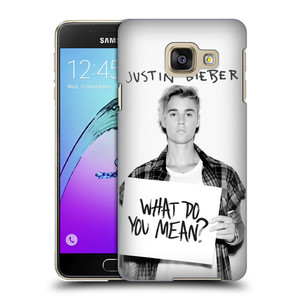 Plastové pouzdro na mobil Samsung Galaxy A3 (2016) HEAD CASE Justin Bieber Official - What do you mean ?