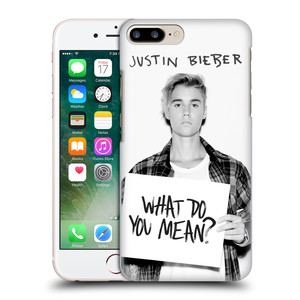 Plastové pouzdro na mobil Apple iPhone 7 Plus HEAD CASE Justin Bieber Official - What do you mean ?