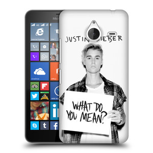 Plastové pouzdro na mobil Microsoft Lumia 640 XL HEAD CASE Justin Bieber Official - What do you mean ?