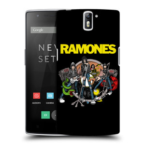 Plastové pouzdro na mobil OnePlus One HEAD CASE The Ramones - ILUSTRACE KAPELY