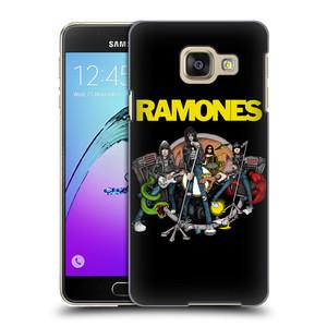 Plastové pouzdro na mobil Samsung Galaxy A3 (2016) HEAD CASE The Ramones - ILUSTRACE KAPELY