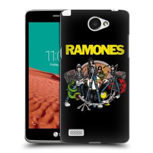 Plastové pouzdro na mobil LG Bello II HEAD CASE The Ramones - ILUSTRACE KAPELY