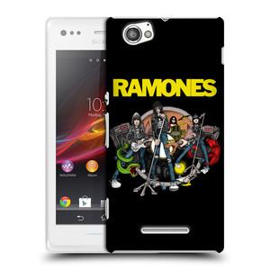 Plastové pouzdro na mobil Sony Xperia M C1905 HEAD CASE The Ramones - ILUSTRACE KAPELY