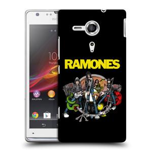 Plastové pouzdro na mobil Sony Xperia SP C5303 HEAD CASE The Ramones - ILUSTRACE KAPELY
