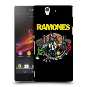 Plastové pouzdro na mobil Sony Xperia Z C6603 HEAD CASE The Ramones - ILUSTRACE KAPELY