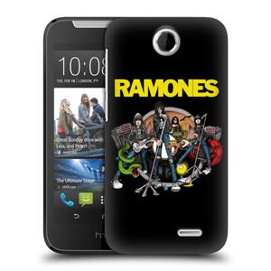 Plastové pouzdro na mobil HTC Desire 310 HEAD CASE The Ramones - ILUSTRACE KAPELY