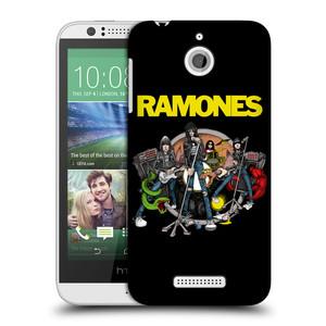 Plastové pouzdro na mobil HTC Desire 510 HEAD CASE The Ramones - ILUSTRACE KAPELY