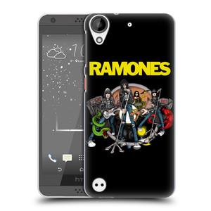Plastové pouzdro na mobil HTC Desire 530 HEAD CASE The Ramones - ILUSTRACE KAPELY
