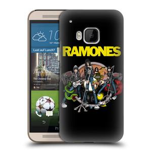 Plastové pouzdro na mobil HTC ONE M9 HEAD CASE The Ramones - ILUSTRACE KAPELY