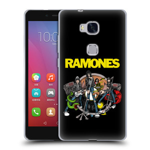 Silikonové pouzdro na mobil Honor 5X HEAD CASE The Ramones - ILUSTRACE KAPELY