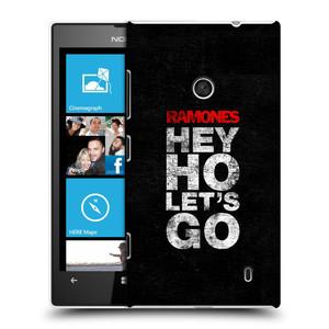 Plastové pouzdro na mobil Nokia Lumia 520 HEAD CASE The Ramones - HEY HO LET´S GO