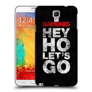 Plastové pouzdro na mobil Samsung Galaxy Note 3 Neo HEAD CASE The Ramones - HEY HO LET´S GO