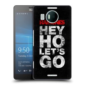 Plastové pouzdro na mobil Microsoft Lumia 950 XL HEAD CASE The Ramones - HEY HO LET´S GO
