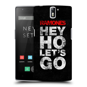 Plastové pouzdro na mobil OnePlus One HEAD CASE The Ramones - HEY HO LET´S GO