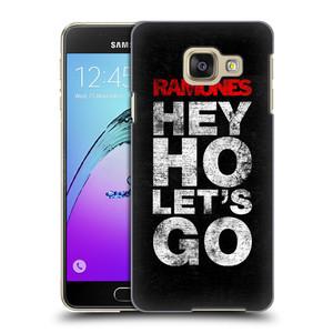 Plastové pouzdro na mobil Samsung Galaxy A3 (2016) HEAD CASE The Ramones - HEY HO LET´S GO