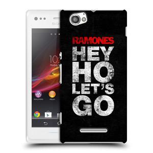 Plastové pouzdro na mobil Sony Xperia M C1905 HEAD CASE The Ramones - HEY HO LET´S GO